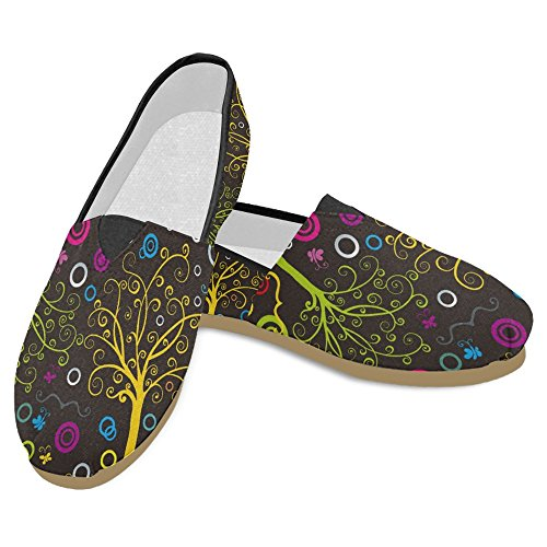 Interestprint Womens Loafers Klassiska Avslappnade Duk Slip På Mode Skor Gymnastikskor Lägenheter Multi 4