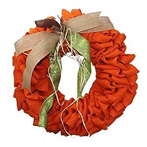 Pumpkin Burlap Wreath 37
