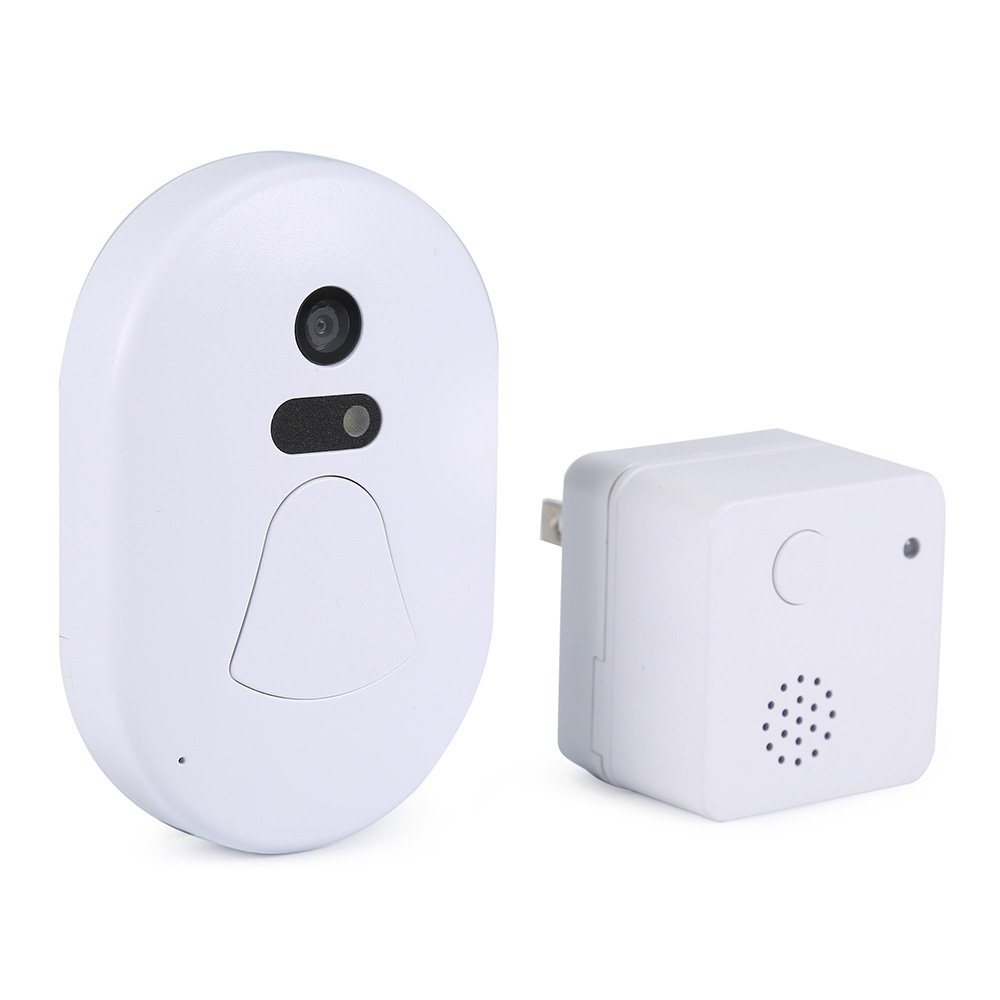 Smart WiFi Doorbell,Anweer Wireless Doorbell with 2.0MP Camera 2Pcs AAA Batteries Alarm Snapshot Free Cloud Storage Night Vision Phone Viewing