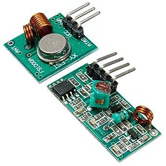 Módulo Transmisor De Rf 433 Mhz Con Kit Receptor Para