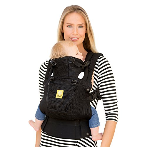 LÍLLÉbaby The COMPLETE Airflow SIX-Position 360° Ergonomic Baby & Child Carrier, Black - Cotton Baby Carrier, Ergonomic Multi-Position Carrying for Infants Babies Toddlers