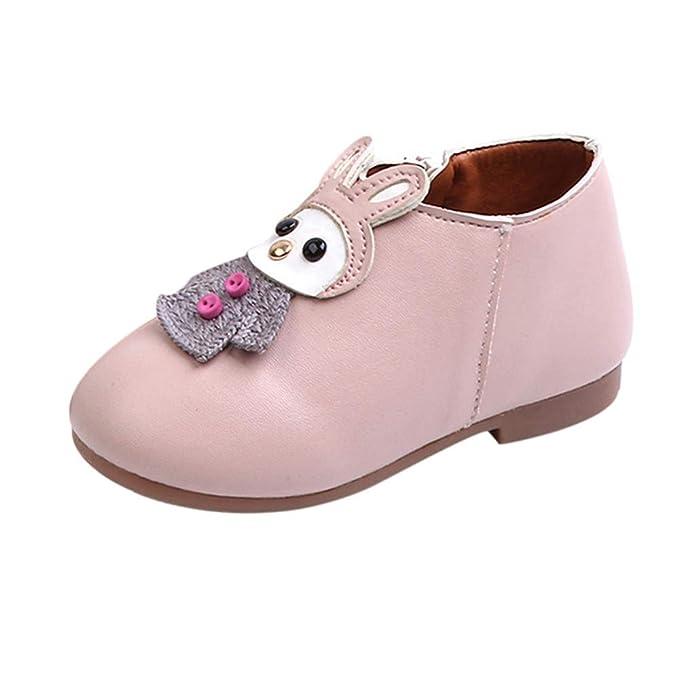 ... Animados Cuero Cuero Botas Cortas Zapatos Casuales Cremallera Lateral de Dibujos Animados niñas de los niños Botas Botines: Amazon.es: Ropa y accesorios