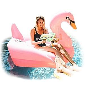 floatie kings pink swan raft pool float huge. Black Bedroom Furniture Sets. Home Design Ideas
