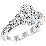 175-Ctw-Platinum-Designer-Four-Prong-Pave-Set-Round-GIA-Certified-Diamond-Engagement-Ring-Pear-Shape-1-Ct-F-Co