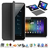 "Indigi® Unlocked! 7.0"" Android 4.4 Phablet 3G Dual-Sim Tablet Phone Wireless w/ Built-in Smart Cover (Black)"
