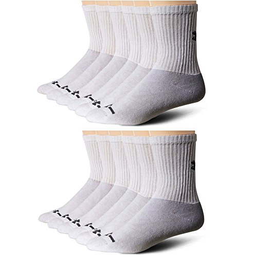6 Pairs Under Armour CHARGED COTTON 2.0 QUARTER Socks BLACK Men/'s LARGE