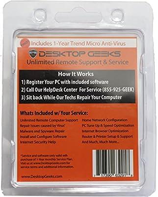 Desktop Geeks Activation Kit w/ FREE! Trend Micro Maximum Security Antivirus