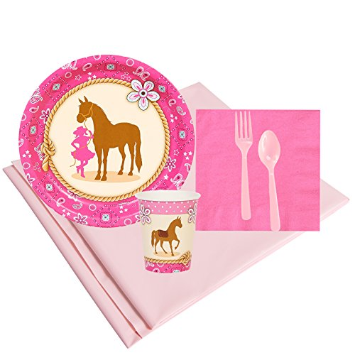 BirthdayExpress Western Cowgirl Party Supplies - Party Pack