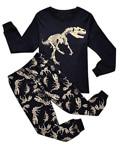 IF Pajamas Dinosaur Little Boys Long Sleeve Pajamas Sets 100% Cotton Clothes Toddler Kids Pjs 4T