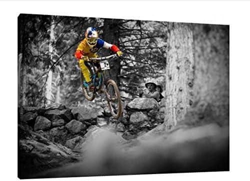 Bruni Loïc - 30 x 50,8 cm lienzo con imagen de diseño de bicicleta ...