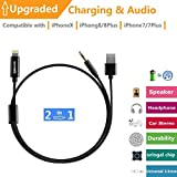Best Cable Connectors For Music Audios - 2 in 1 Lightning Charging and Audio Cable Review