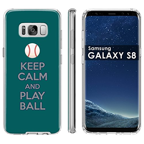 (Samsung Galaxy S8 Soft Mold [Mobiflare] [Clear] Thin Gel Protect Cover - [Play Ball - Seattle] for Samsung Galaxy [S8] [5.8