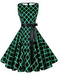 Women's Classy Audrey Hepburn 1950s Vintage Rockabilly Swing Dress