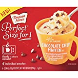 Duncan Hines Perfect Size for 1 Breakfast Muffin and Cake Mix, Chocolate Chip Muffin, 4 individual pouches