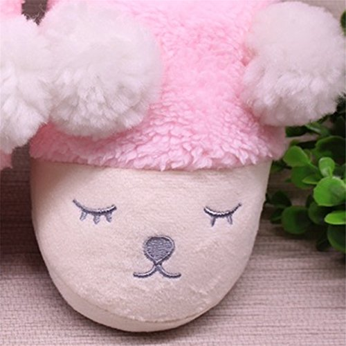 für Kinder Rosa Weihnachten Schafe Damen Hausschuhe Mädchen Kostüm Plüsch Damen Geschenk Pantoffeln Lalang Netter Kleine Erwachsene als Schielende 78TBvwqZw