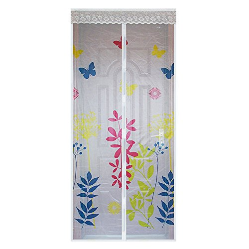 - WYZworks (Floral Design) Magnetic Mesh Hands-Free Lace Screen Door (Various Designs Available)