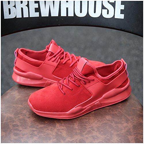 Leider Show Herenmode Elastische Comfortabele Sneaker Casual Sport Wandelschoenen Rood-1