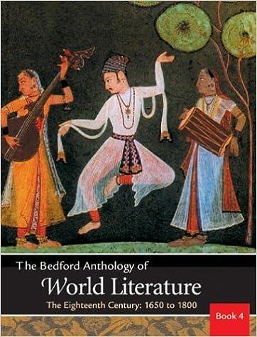 Amazon Com Bedford Anthology Of World Literature Vol 4 The Eighteenth Century 9780312402631 Davis Paul Harrison Gary Johnson David M Smith Patricia Clark Crawford John F Books