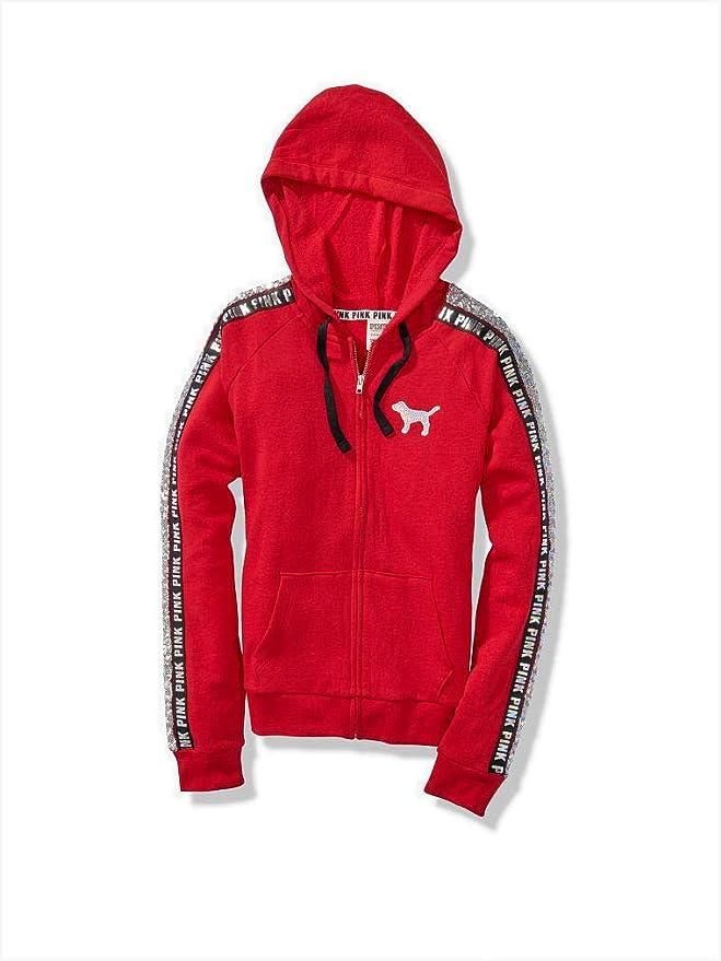 ed2db14d0f479 Victoria's Secret Pink Bling Perfect Zip Hoodie & Skinny Jogger Pant Sweat  Set