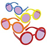 Amscan Groovy s Assorted Colors s Sunglasses Accessory Plastic Pack 10 Costume Supplies , 60 Pieces