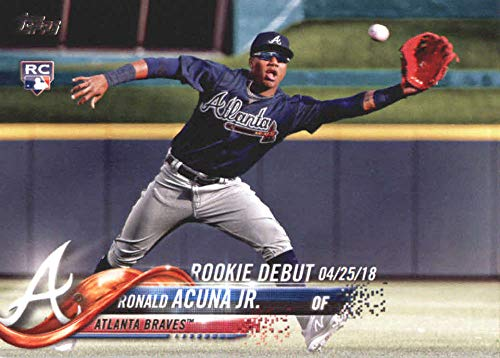 2018 Topps Update and Highlights Baseball Series #US252 Ronald Acuna Jr. RC Rookie Atlanta Braves Official MLB Trading Card