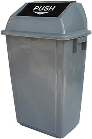 Cubos de Basura para Exterior Tapa de columpio de plástico engrosada Cubo de basura Jardín Cubo