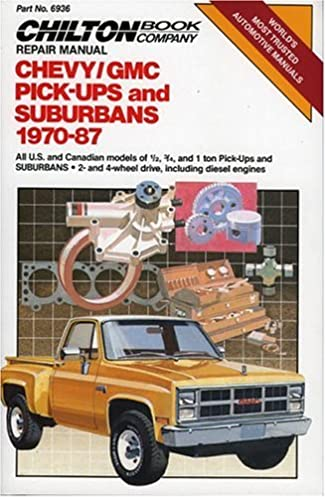 chevy gmc pickups suburbans 1970 87 chilton s repair tune up rh amazon com 1987 GMC R1500 1987 GMC Jimmy Sierra Classic