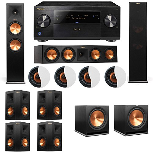 dolby-atmos-724-klipsch-rp-280f-tower-speakers-r115sw-with-pioneer-elite-sc-85