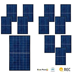 3480 Watts | Solar Panel | REC TwinPeak2 Series 290W (12) kit | 20 Year Product 25 Year Linear Output Warranty | UL & IEC Rated | MC4 Connectors