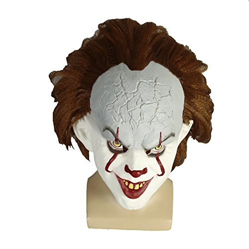 Horror Clown Costume Classic (Moniku Halloween Classic Horror Clown Mask Faux Fur)