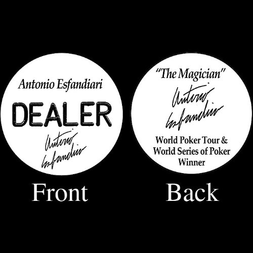 Trademark Poker Antonio Esfandiari Professional Collector's Dealer Button
