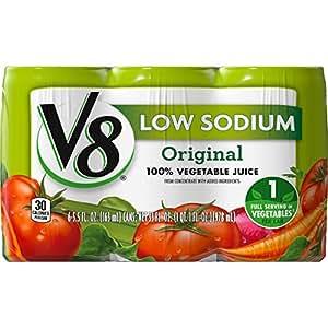 Amazon Com V8 Original Low Sodium 100 Vegetable Juice 5