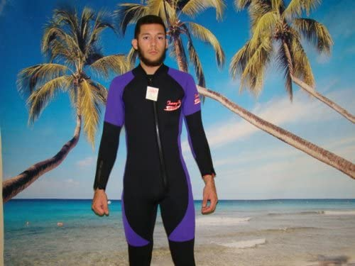 5MM Wetsuit, Full Length Front Zipper, Arm Zippers, Ankle Zippers Mens SIZE 4X, ITEM 8802