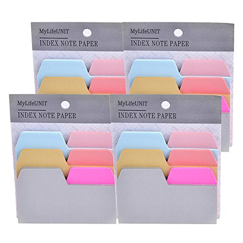 MyLifeUNIT Index Cards, Self Sticky Notes Reminder, Colored Index Sticky Notes for Notebook Computer Display (4PCS)
