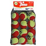 Penn QST 36 Felt Red Tennis Balls, 12 Ball Mesh Bag