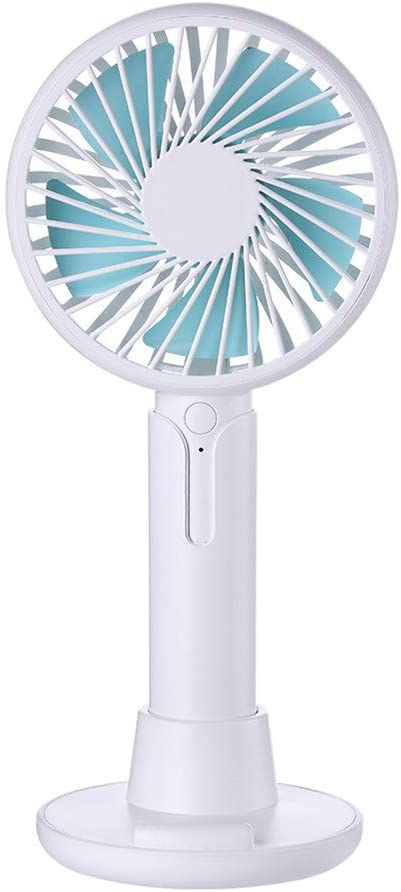 Mini Handheld Fan,ZTY66 Small Portable Personal Mini Desk Table Folding Fan with USB Rechargeable Battery Operated Electric Fan for Office Outdoor Sport Household Traveling Camping Pink