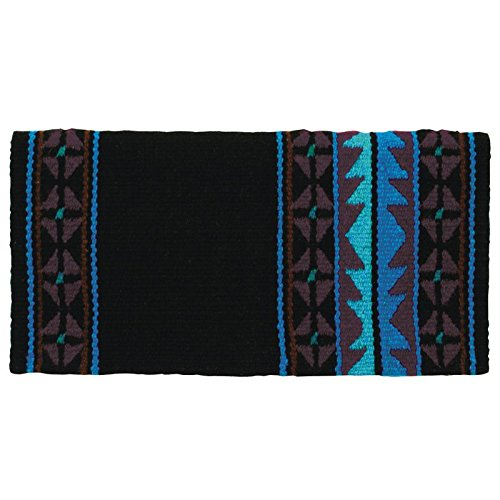 Mayatex Mojave Saddle Blanket, Black/Chestnut/Show, used for sale  Delivered anywhere in USA