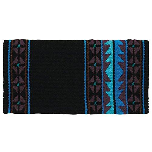 Mayatex Mojave Saddle Blanket, Black/Chestnut/Show Turquoise, 36 x ()