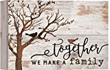 Together We Make A Family Tree White 10 x 7 Inch Solid Pine Wood Boxed Pallet Wall Plaque Sign