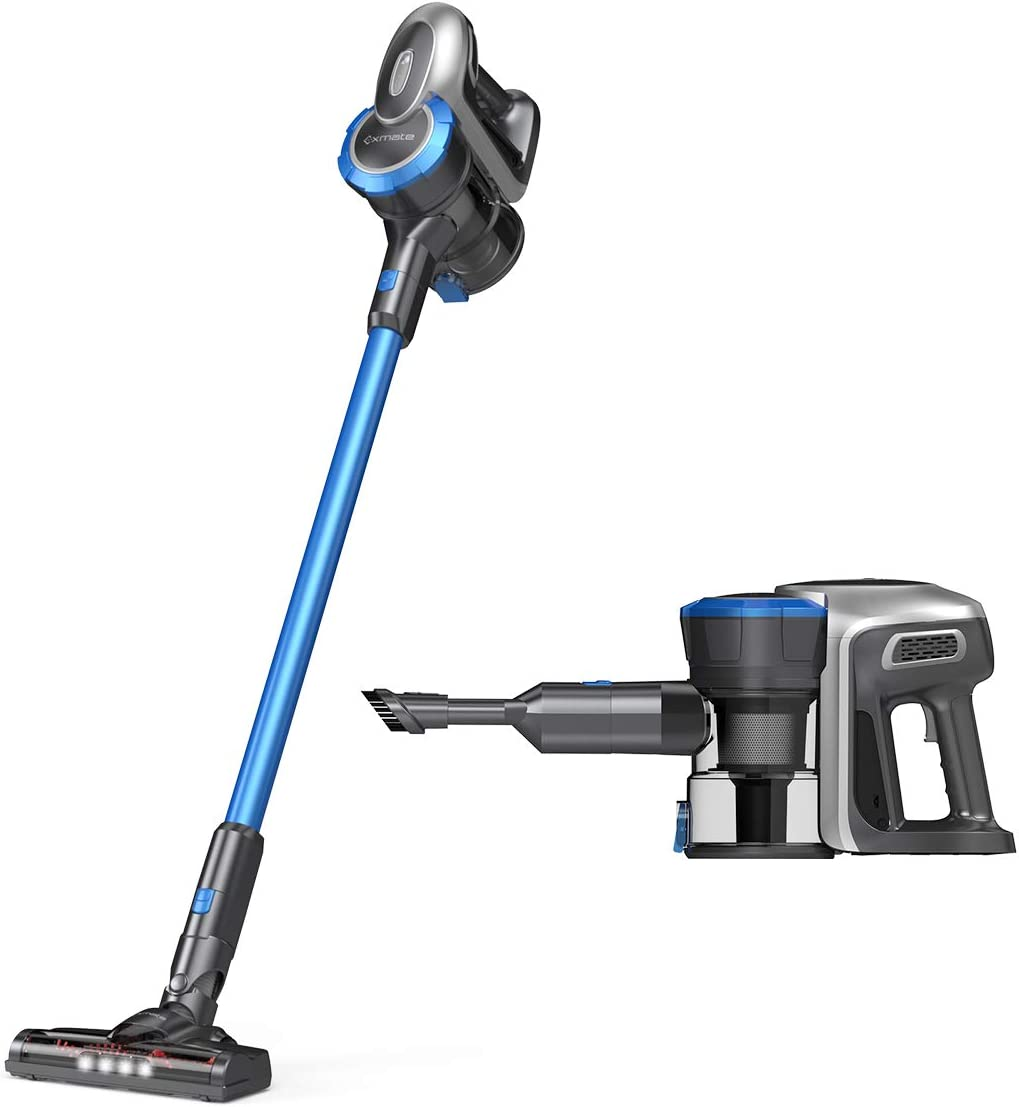 Cordless Vacuum Cleaner, Exmate 12 Kpa Powerful Suction 2 in 1 Stick Vacuum Handheld Vacuum, Lightweight with Rechargeable Lithium Ion Battery, Easy Empty Dirt Cup for Floor Carpet Pet Hair, Home, Car