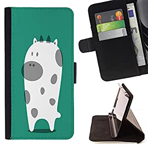 - COW - - Premium PU Leather Wallet Case with Card Slots, Cash Compartment and Detachable Wrist Strap FOR Samsung Galaxy S6 G9200 King case