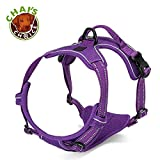 Chais Choice Best Front Range Dog Harness. 3M Reflective Vest with Handle and Two Leash Attachments.Caution Please Use Sizing Chart at Left Before Ordering! Matching (Medium, Purple)