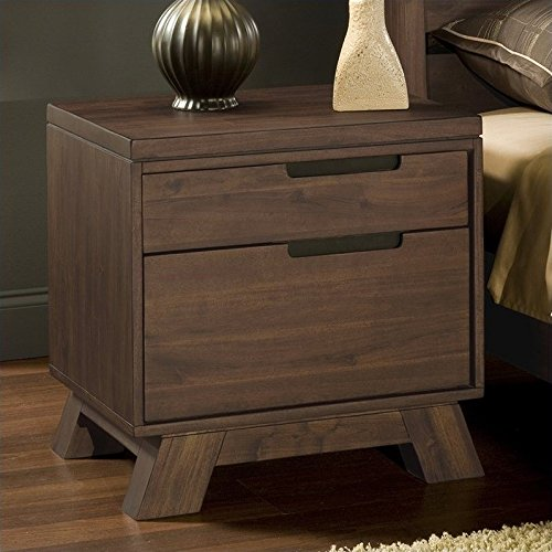 Modus Furniture 7Z4881 Portland Solid Wood Nightstand, - Wood Portland