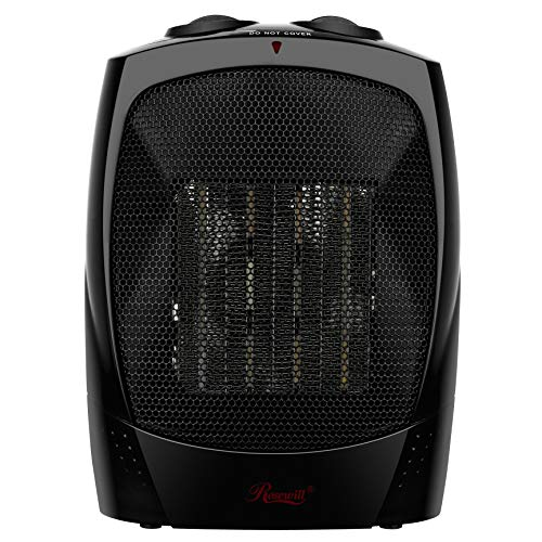 Rosewill Space Heater, Bathroom Heater with Adjustable Thermostat, Ceramic Element, Safety Tip -