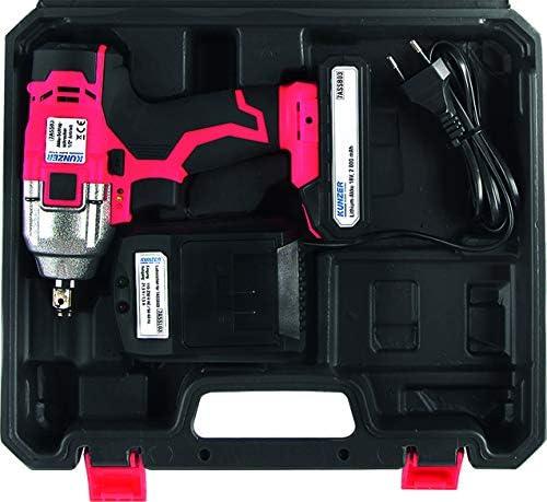 Kunzer 7ass03 Akku Schlagschrauber 1 2 Antrieb Vierkant 320 Nm 2 100 U Min 2600 Bpm Inkl Led Licht Und Zubehör Baumarkt