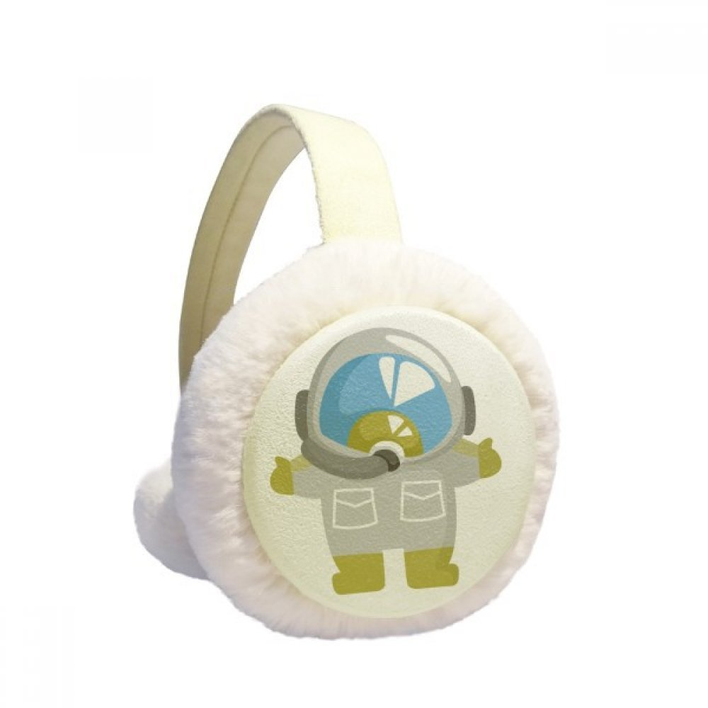 Universe And Alien Lovely Astronaut Winter Earmuffs Ear Warmers Faux Fur Foldable Plush Outdoor Gift