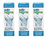Safe Home Bacteria in Water Test Kit - DIY Testing for Total Coliform Bacteria - Includes E. coli, 3 Pack