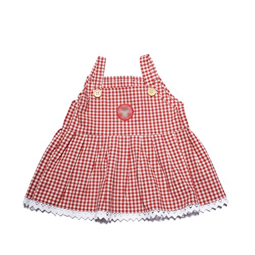 Stuffed Bear Floral Red Grid Dress Outfit Animal Dress Lovers Toy Dress Girls Gift Bundle Doll YaToy Cloth 58Tq6x