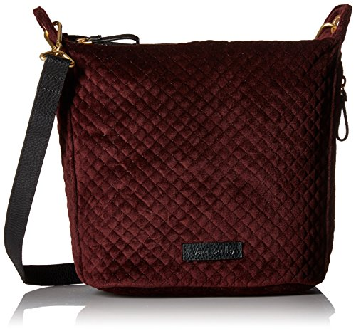 Vera Bradley Halo Carson Mini Crossbody-Velvet, Chocolate Raisin