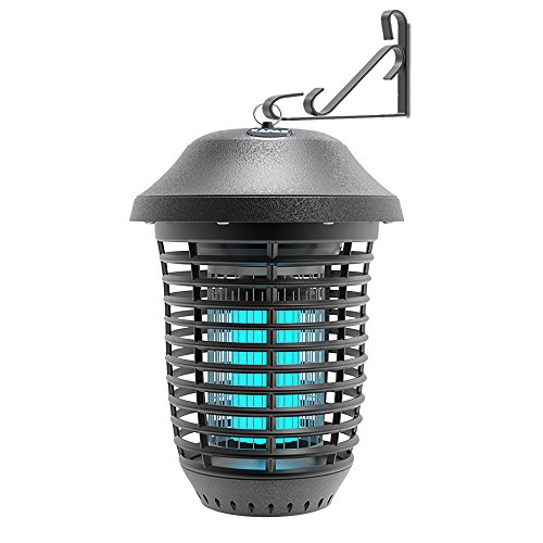 KPS Electric Bug Zappers, New Upgrade with Free Hanger 40W Outdoor Pest Control Lantern for Mosquitoes, Flies, Gnats, Pests & Other Insects, 1 Acre Coverage (1 Pack) ()